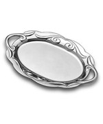 Scrollwork Oval Serving Tray