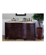62 Inch Double Sink Traditional Wood Vanity by Bellaterra Home