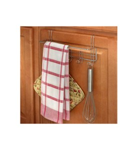 Over the Cabinet Towel Bar and Hooks Image