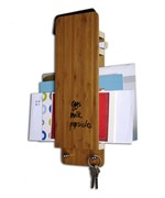 Key and Mail Organizer with Dry Erase - Bamboo