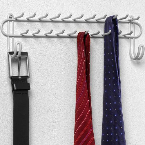 Wall Mount Closet Tie Rack White In Tie And Belt Racks