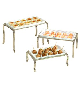 Ceramic Buffet Trays - Satin (Set of 3) Image