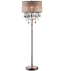 62 Inch H Rosie Crystal Floor Lamp by O.R.E. Image