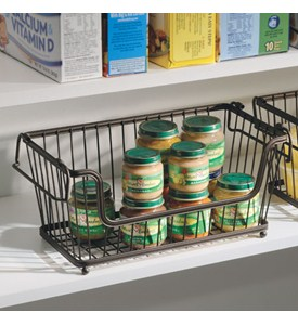 York Stackable Open Front Pantry Basket - Bronze Image
