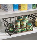 York Stackable Open Front Pantry Basket - Bronze