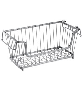 York Open Front Kitchen Basket - Silver Image