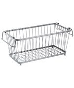 York Stackable Pantry Basket - Silver