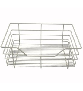17 in x 6 in Wire Basket Drawer - Nickel Image