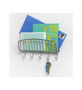 Wall Mount Mail Organizer and Key Rack Image