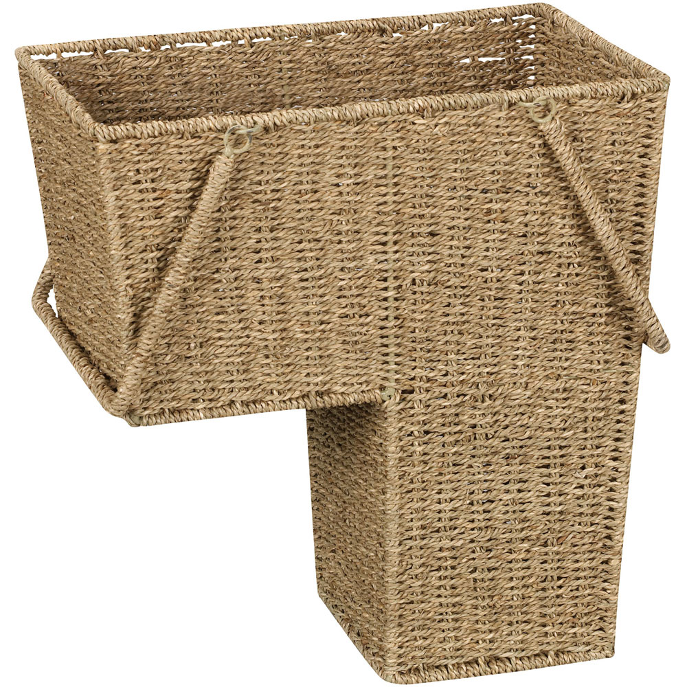 Collapsible Wicker Storage Basket in Wicker Baskets