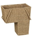 Seagrass Wicker Stair Basket