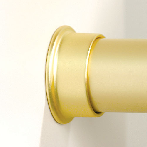 Round Closet Rod Flanges   Brushed Gold (Set Of 2) Image