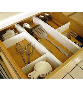 Expandable and Adjustable Drawer Dividers Kit Image