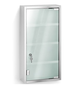 Stainless Steel Locking Medicine Cabinet Image