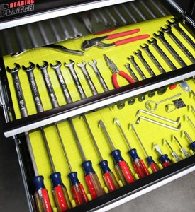 Tool Drawer Organizing System and Liner - Lime Image