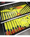 Tool Drawer Organizing System and Liner - Lime