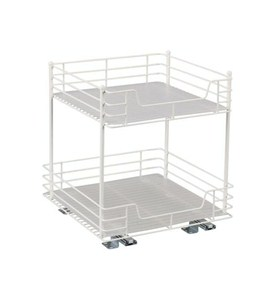 15 Inch Double Pull Out Cabinet Shelf In Pull Out Baskets