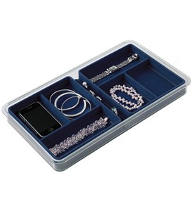 Six-Compartment Jewelry Organizer - Blue Image