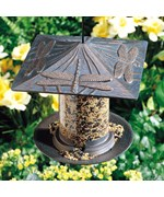 6 Inch Tube Metal Bird Feeder - Dragonfly