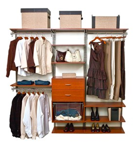 freedomRail Closet Shelving System - Cherry Image