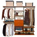 freedomRail Closet Shelving System - Cherry