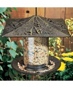 6 Inch Tube Bird Feeder - Trumpet Vine