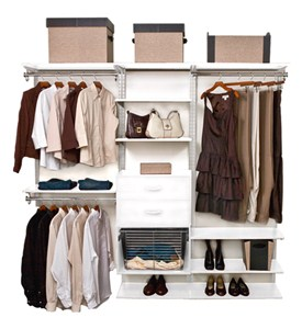 freedomRail Closet Shelving System - White Image