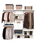 freedomRail Closet Shelving System - White