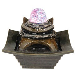 7 Inch Fountain With Led Light by O.R.E. Image