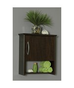 7 Inch Deep Wall Cabinet with Lower Shelf