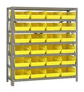 Bin Shelving System - 18D x 36W x 39H - by Quantum Storage Systems Image