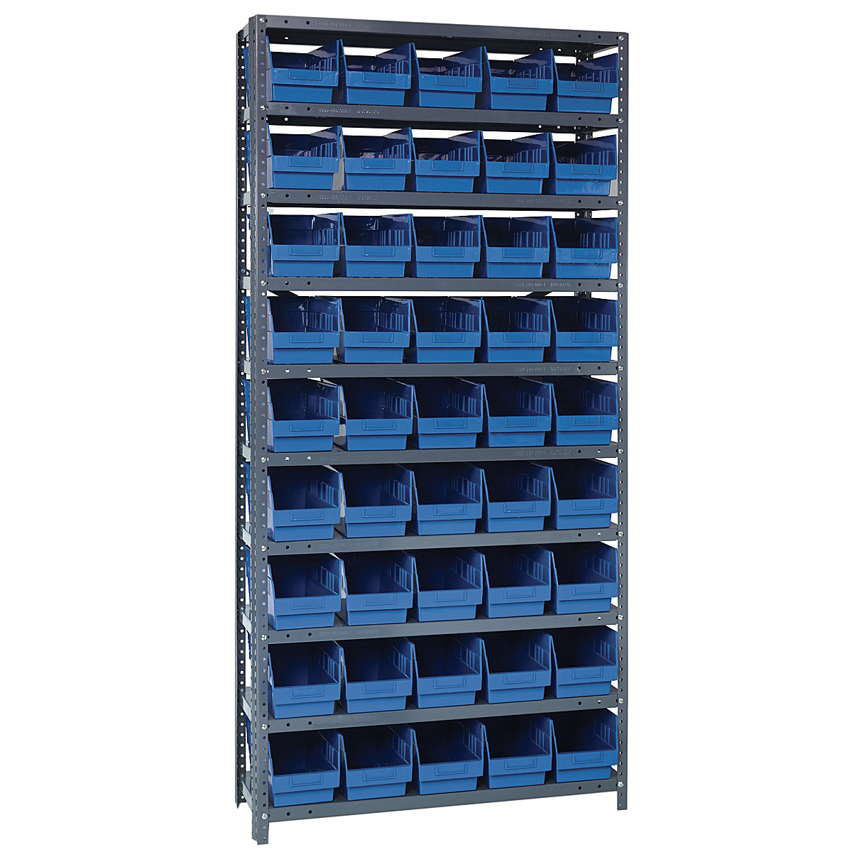 Bin Shelving System In Plastic Storage Bins