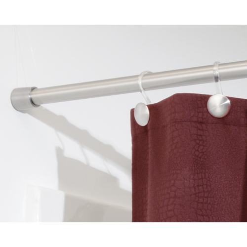extra long tension rod shower curtain