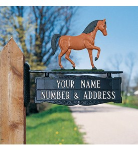 Address Post Sign for Ornament - Two-Line Image