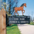 Address Post Sign for Ornament - Two-Line