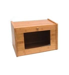 Bamboo Bread Box with Window Image