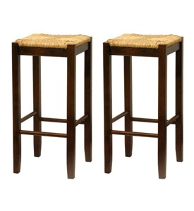 Bar Stool with Woven Seat (Set of 2) Image