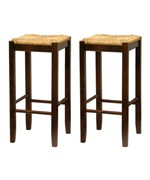 Bar Stool with Woven Seat