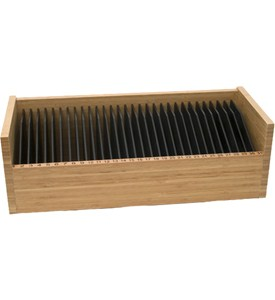 Bamboo 31 Day Bill Organizer - Natural and Black Image