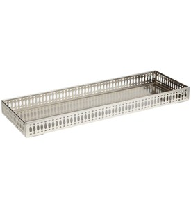 Bathroom Vanity Tray - Satin Nickel Image