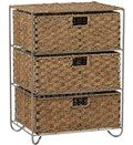 3 Drawer Wicker Storage Chest