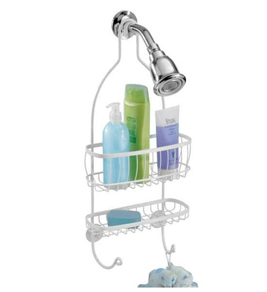 York Hanging Shower Caddy - White in Shower Caddies