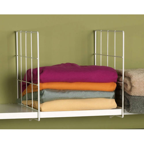 White Wire Shelf Dividers Image