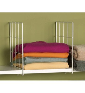 White Wire Shelf Dividers (Set of 2) Image