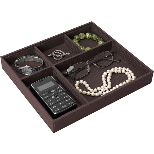 Neatnix 5 Compartment Jewelry Organizer Brown in Jewelry Trays
