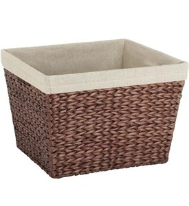 Linen Lined Storage Basket Image