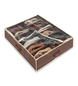 Under bed Shoe Organizer - Brown Image