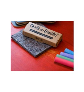 Chalk-A-Doodle Dustless Chalk and Eraser (Set of 4) Image