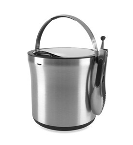 OXO Stainless Steel Ice Bucket and Tongs Image