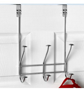 Over the Door Hook Rack - Chrome Image